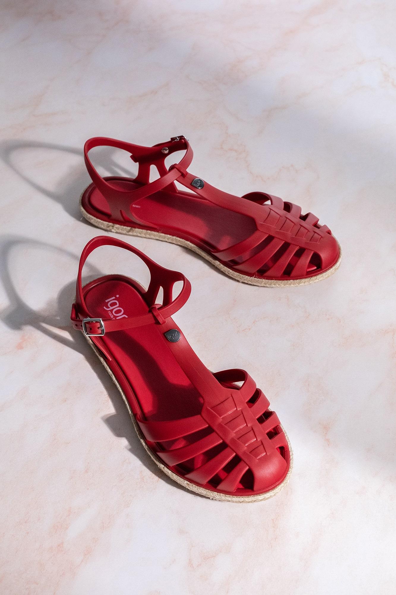 cangrejeras rojas mujer