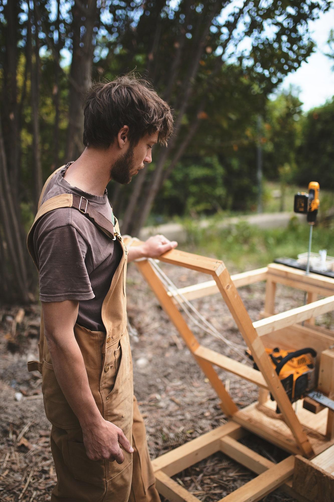 máquina cortar madera