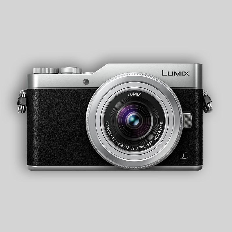 cámara digital estilo retro