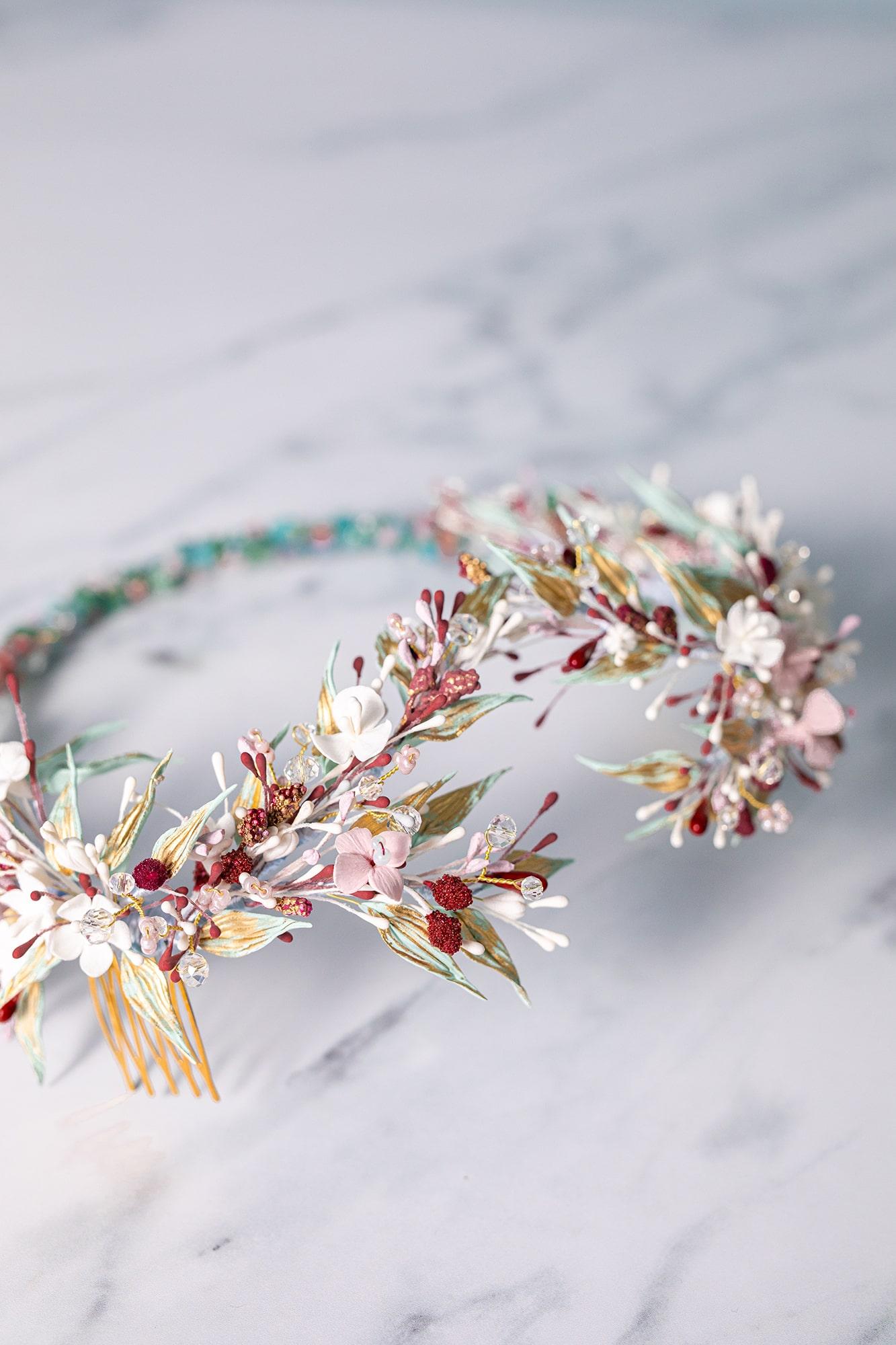 coronas flores colores