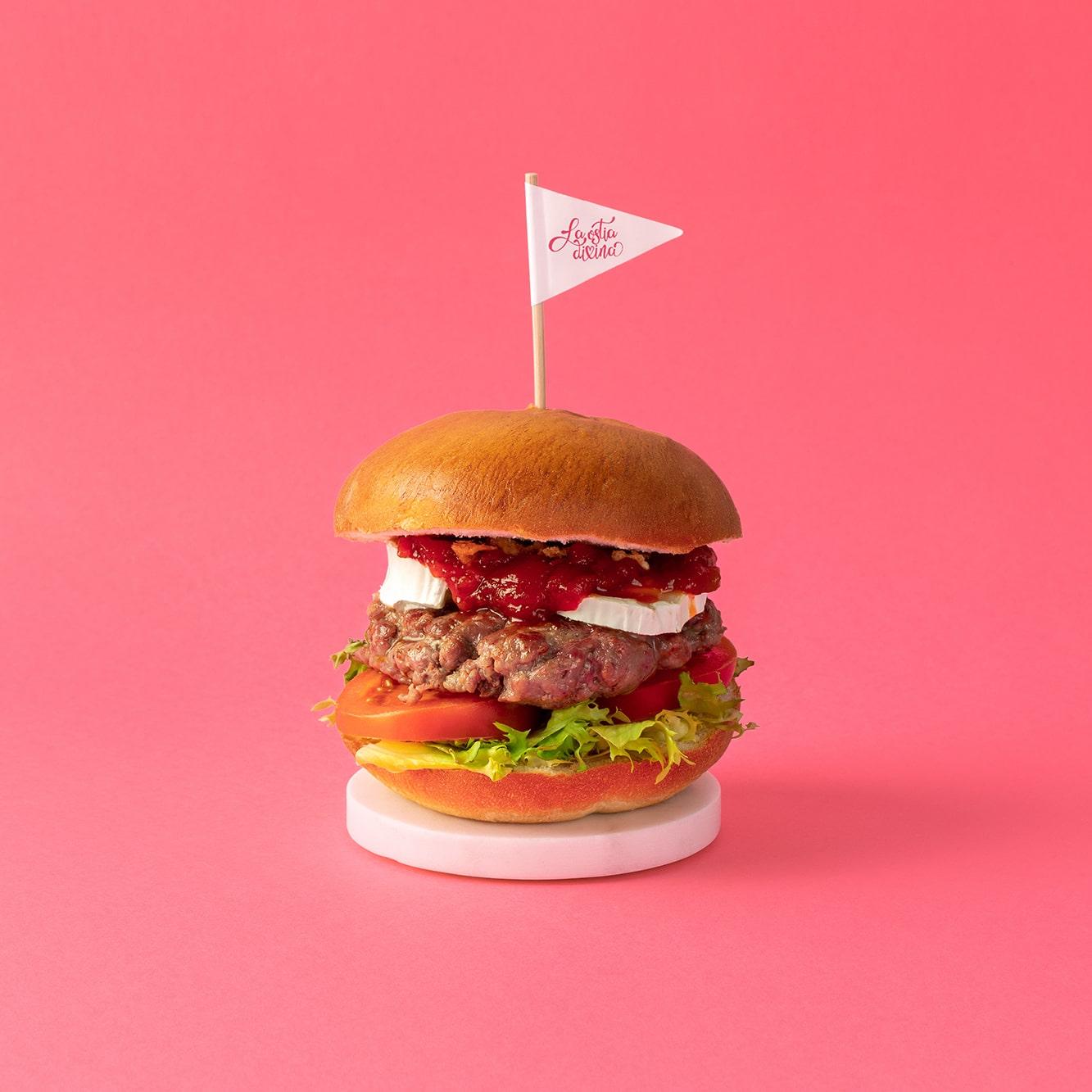 hamburguesa redes sociales