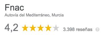 opiniones fnac Murcia