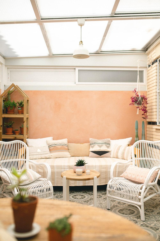 decoración patio interior
