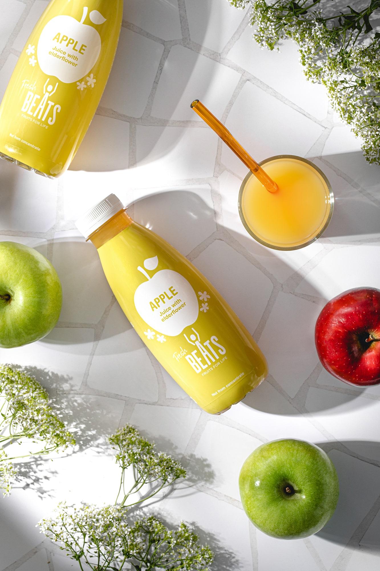zumo manzana natural